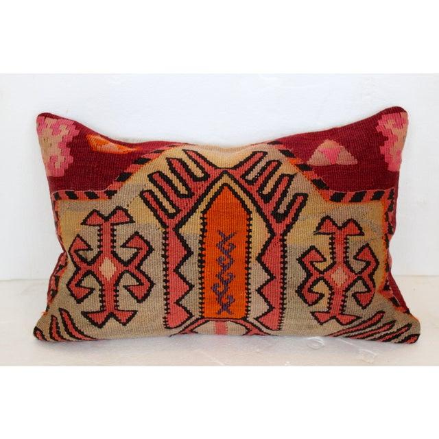 Image of Orange & Pink Turkish Kilim Cushion