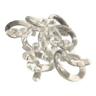 Dorothy Thorpe Lucite Napkin Rings - Set of 8