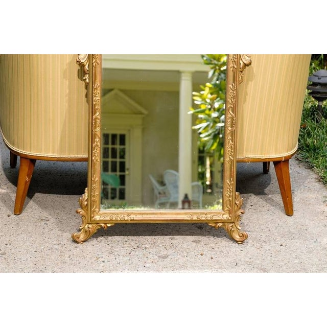 Italian Hand-Carved Rococo Gilt Mirror - Image 5 of 6