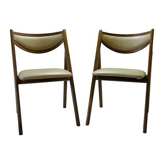 Vintage Compass-Style Folding Chairs - Pair