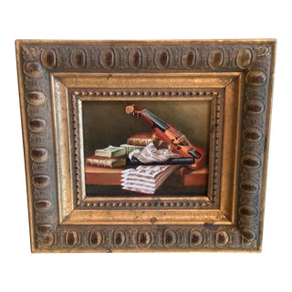 Framed Music Still Life Giclee Painting