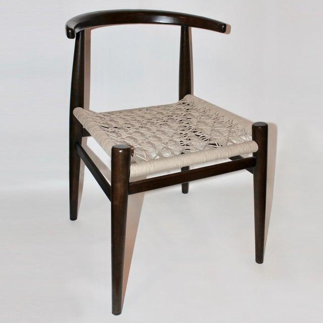 Lerhamn Chair Black Brown Ramna Beige: John Vogel For West Elm Dark Brown Wood & Beige Handwoven
