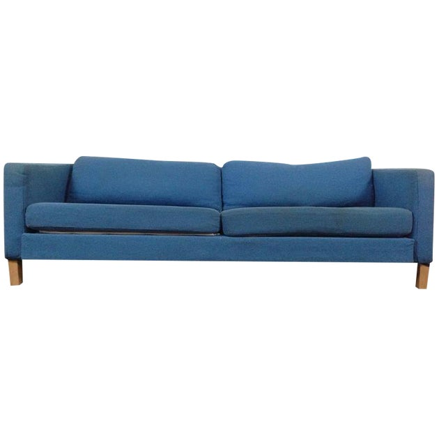 Atomic Mid-Century Sofa Bed In Turquoise