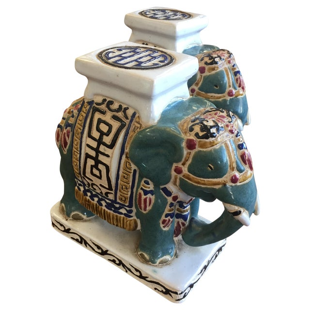 Chinese Pottery Elephants - A Pair - Image 1 of 6