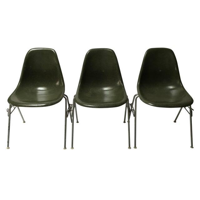 Herman Miller Fiberglass Side Chairs Set Of 3 Chairish