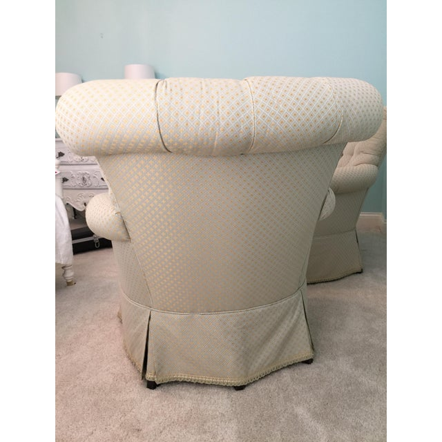 Tufted French Chairs - A Pair - Image 10 of 10