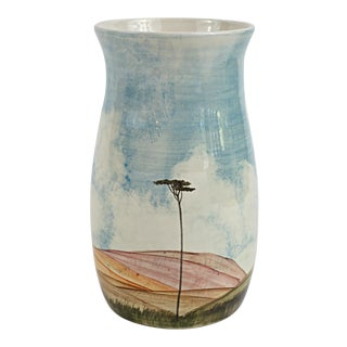 1972 Italian Hand Painted Porcelain Vase