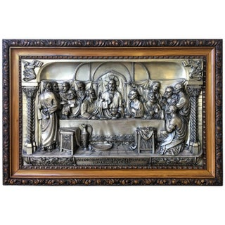 """The Last Supper"" Metal Relief"