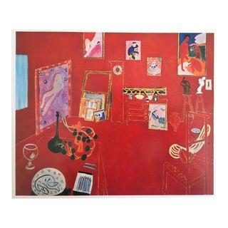 1973 The Red Studio L' Atelier Panneau Rouge Lithograph - Henri Matisse