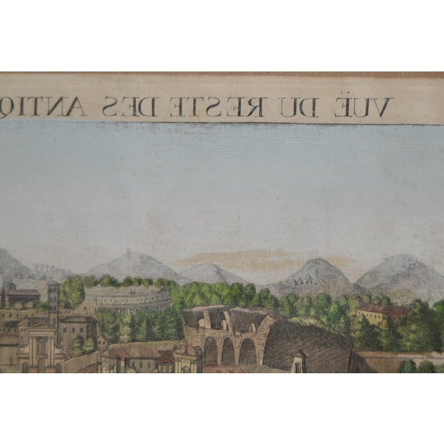 "Image of Antique ""View of Rome"" Engraving 19th Century"