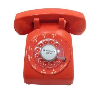 Orange Rotary Dial Phone Stromberg Carlson