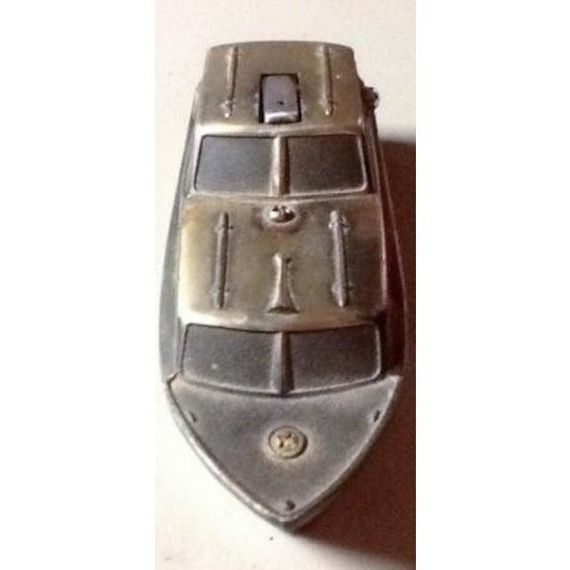 Image of 1950's Brass Boat Cigarette Lighter