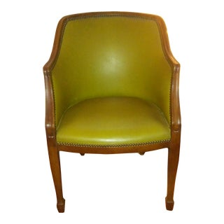 1970s Vintage Club Style Faux Leather Chair