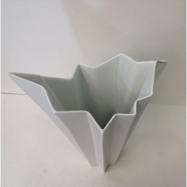 Hutschenreuther White Op Art Vase - Image 3 of 7
