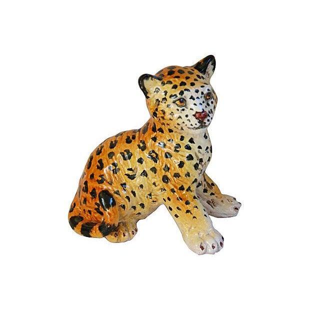 Hand-Painted Italain Terracotta Cheetah - Image 6 of 7