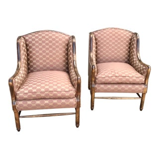 Vintage High Back Armchairs - a Pair