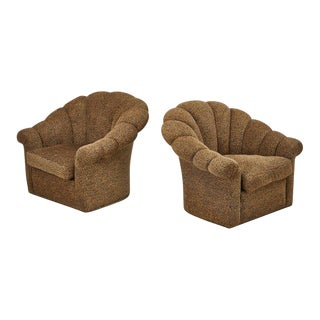 Art Deco Style Swivel Club Chairs - A Pair