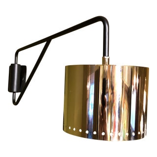 Black & Silver Shaded Wall Lamp