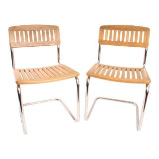 Mid-Century Modern Marcel Breuer Cesca Chairs - A Pair