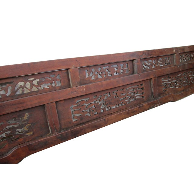 Image of Old Chinese Scenery Carving, Panel Frame