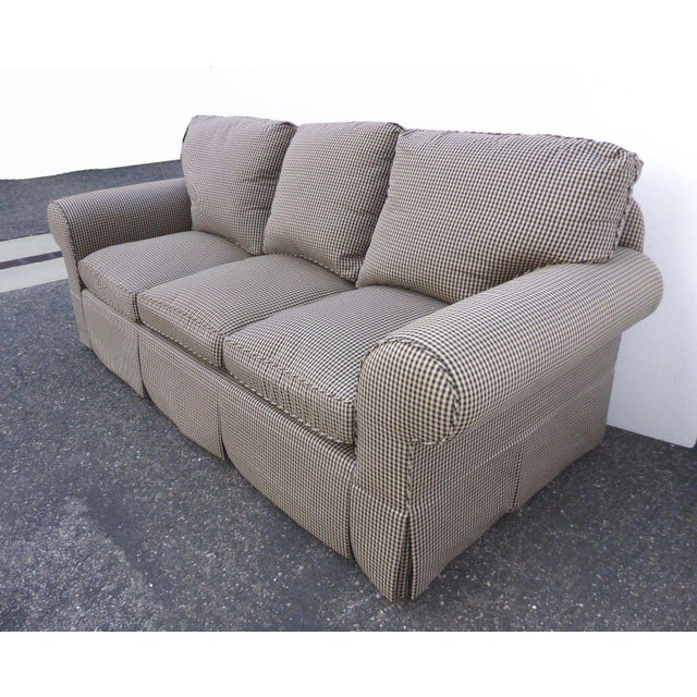 Glabman Furniture Plaid 3 Seater Sofa - Image 4 of 11