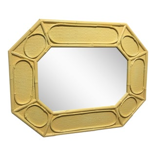 Yellow Bamboo Mirror