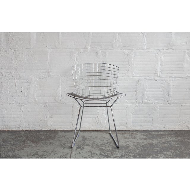 Knoll Bertoia Black Padded Wire Side Chair - Image 5 of 8