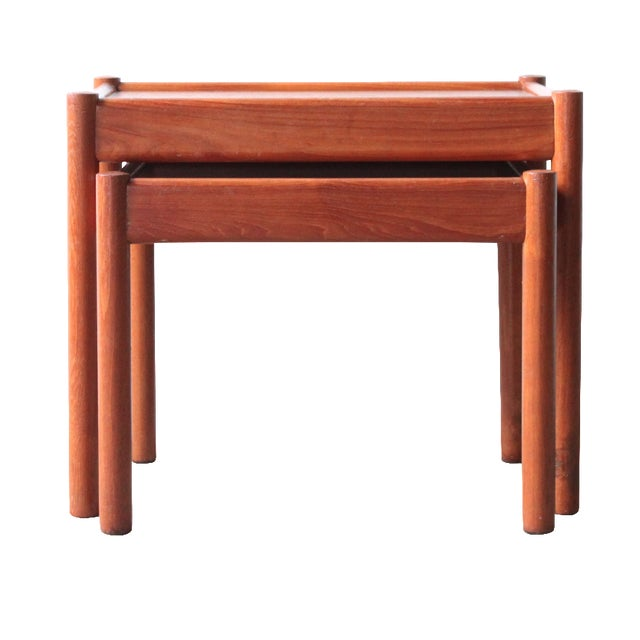 Teak Nesting Tables - A Pair - Image 1 of 4