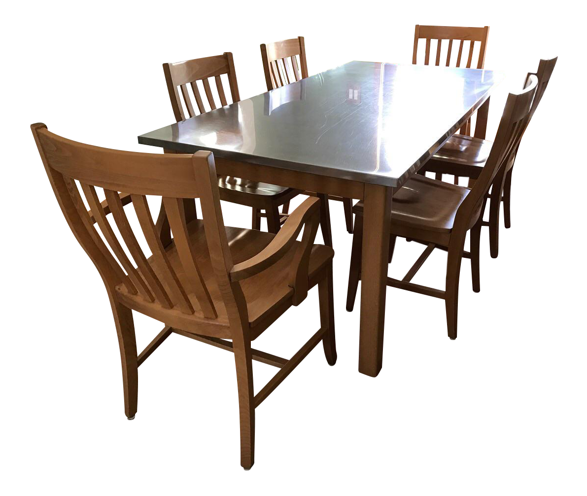 Vintage Used Contemporary Dining Sets Chairish
