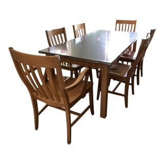 Pottery Barn Stainless Steel Dining Room Set