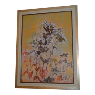 Contemporary Gold Frame Gesso Floral Pictures Wall Accent by Serj the Mirrorman
