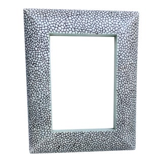 Vintage Abstract Black, White & Mint Photo Frame