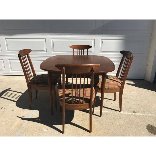 Lenoir Broyhill Mid-Century Modern Dining Set - Table & 4 Chairs - Image 2 of 10