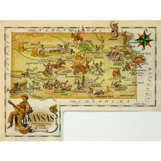 Vintage Kansas Pictorial Map, 1946