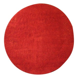"Kasthall Moss Rug Round Red Long Pile 8'6"" x 9'8"""