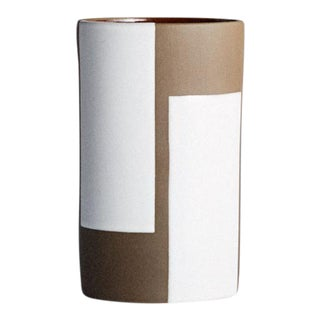 Jonathan Adler Brown and White Vase
