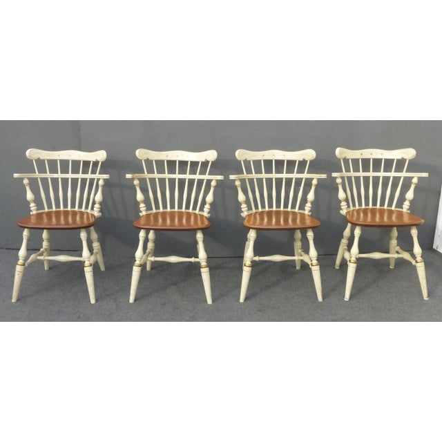 Ethan Allen French Country Coffee Table: French Country White Ethan Allen Comb Back Chairs