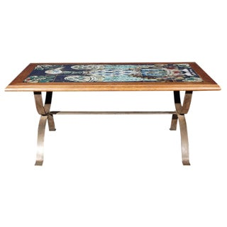 Parisian Bird Tile Top Coffee Table