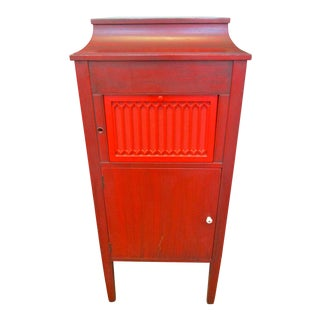 Antique Red Victrola Cabinet