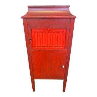 Antique Red Victrola Cabinet