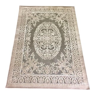 Vintage Ivory Turkish Rug - 5′3″ × 7′3″