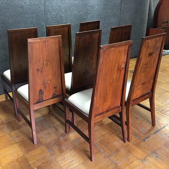 Rustic Square Mahogany Dining Set - Image 8 of 9