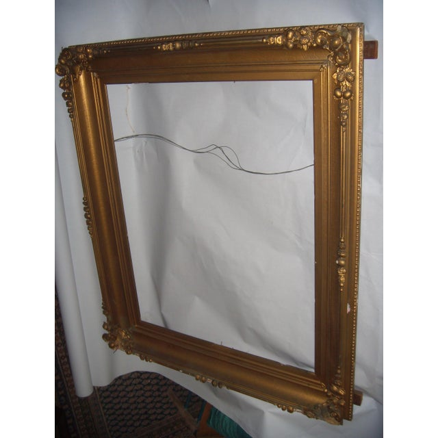 antique large gilt ornate mirror picture frame chairish. Black Bedroom Furniture Sets. Home Design Ideas