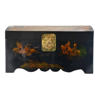 Chinese Hand Painted Domed Trunk