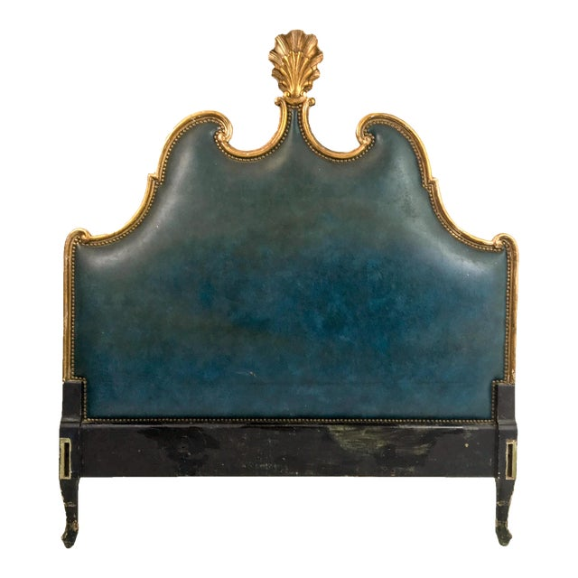 French Gilded Full or Queen Headboard - Image 1 of 4