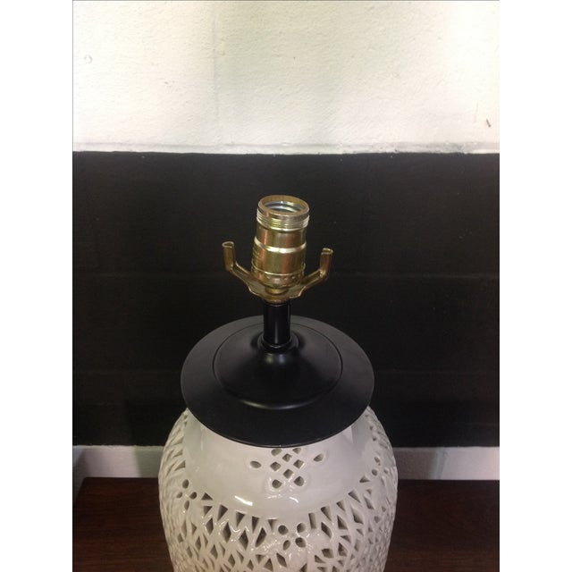 Large blanc de chine table lamp chairish for Table de chine