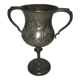 English Pewter Trophy Goblet