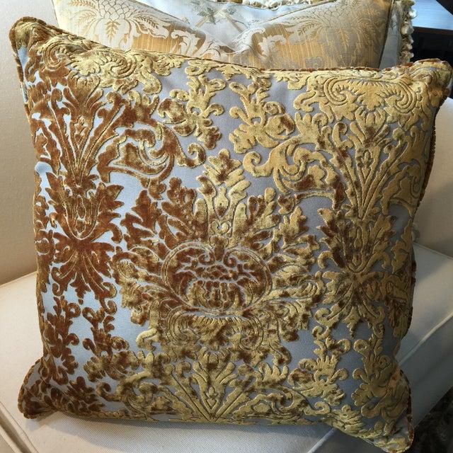 Barrow Velvet Damask Pillow - Image 6 of 7