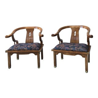 Mid-Century Regency Horseshoe Chairs - A Pair