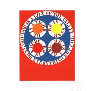 "Robert Indiana ""God Is Lily of the Valley"" 1997 Serigraph"